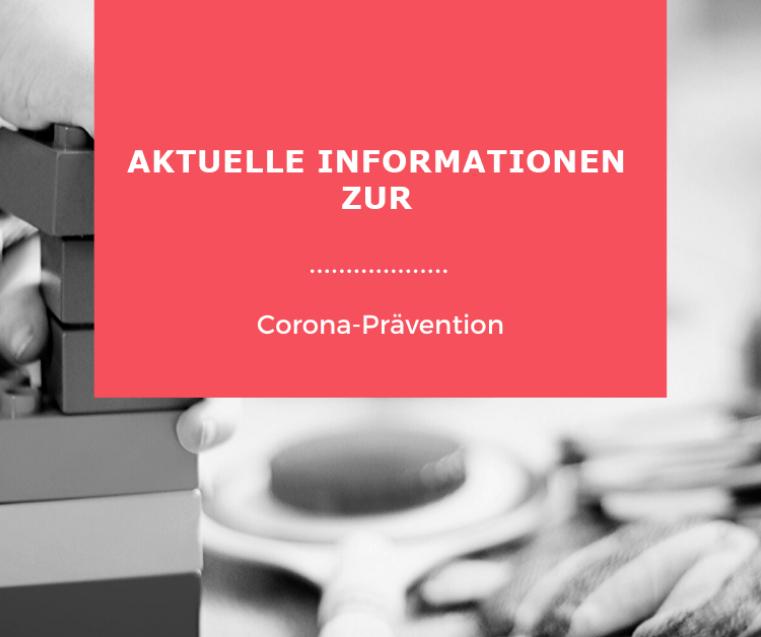Plakat Aktuelle Informationen zur Corona-Prävention