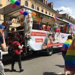 Foto unseres Trucks auf dem CSD 2019 in Dresden
