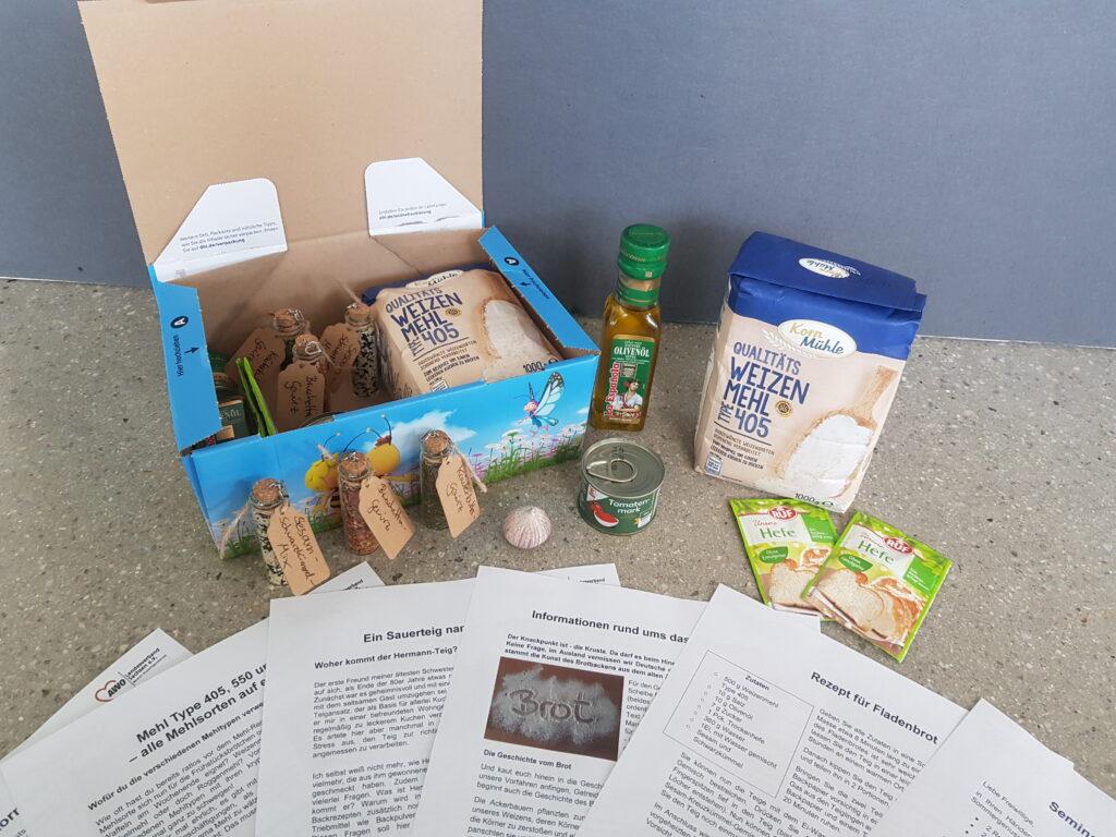 Brotbox mit Zutaten