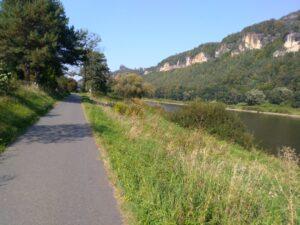 Elberadweg Richtung Königsstein