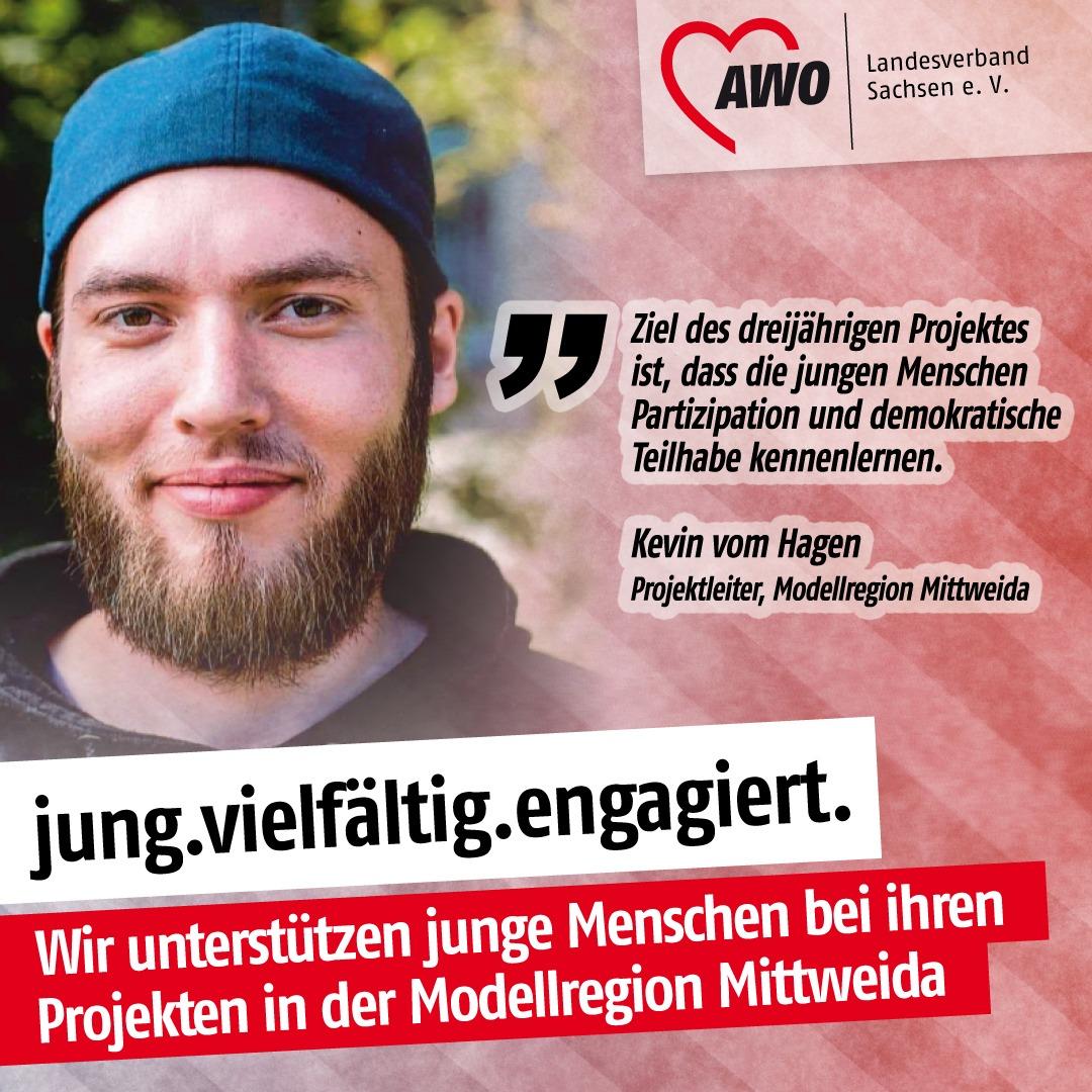 Portrait von Kevin vom Hagen mit einem Zitat zum Projekt