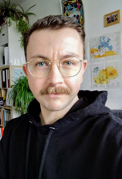 Selfie Foto von Martin Wunderlich im Home Office