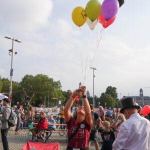 AWO Luftballons beim Gastmahl