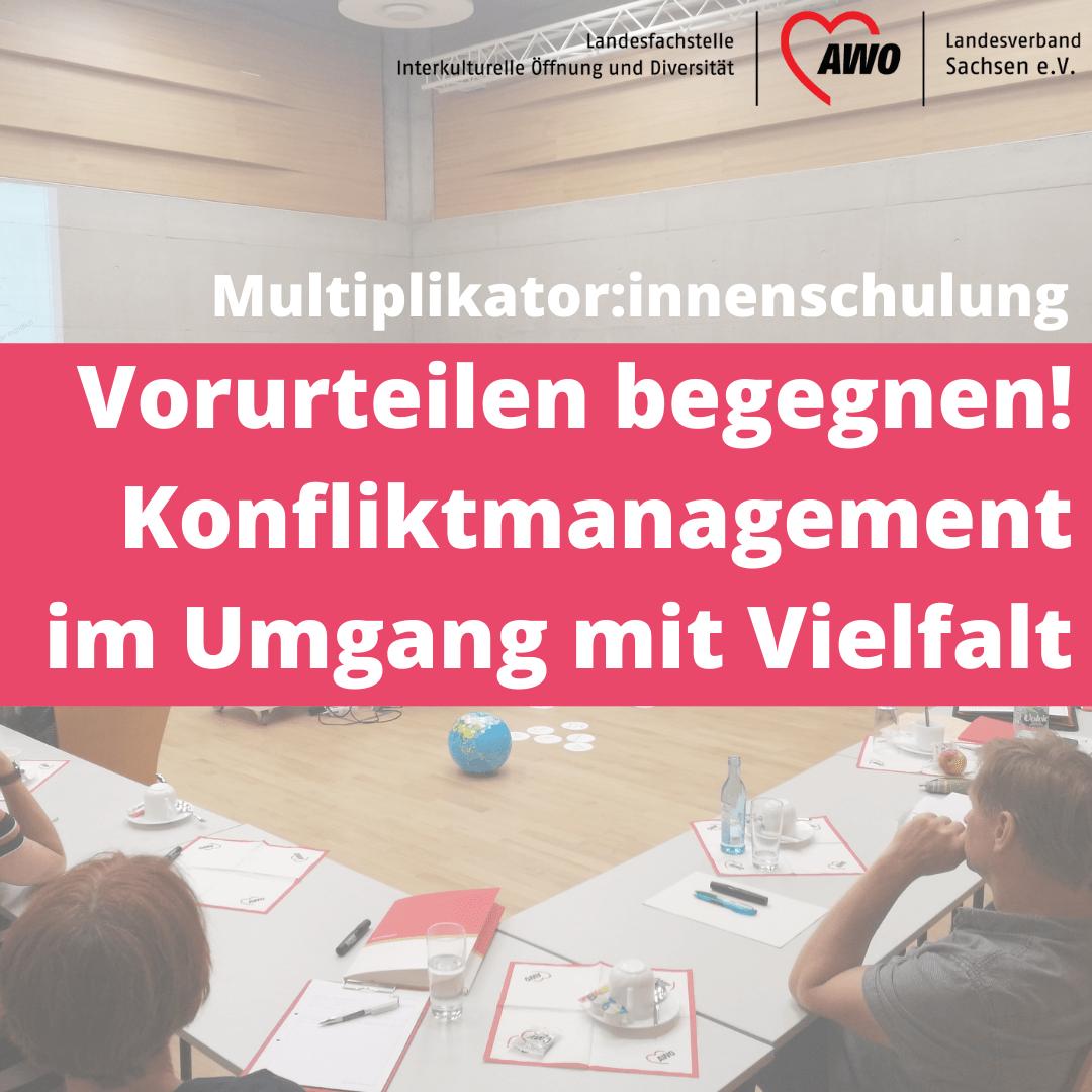 Einladung zur Multiplikator:innenschulung Vorurteilen begegnen! – Konfliktmanagement im Umgang mit Vielfalt